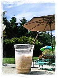 frapuccino on a sunny afternoon