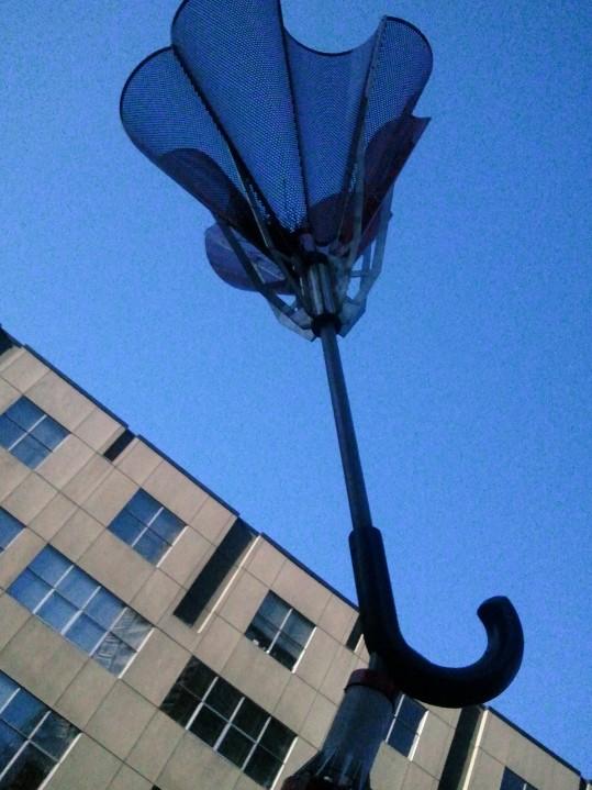 Umbrella for a rainy city