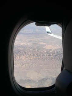 Flying over the desert