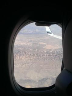 Flying over the desert