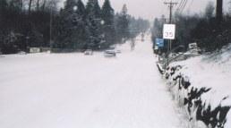 Snowed road - Washington