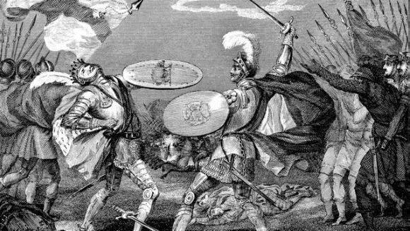 Henry Tudor kills King Richard III in the Battle of Bosworth Field in 1485