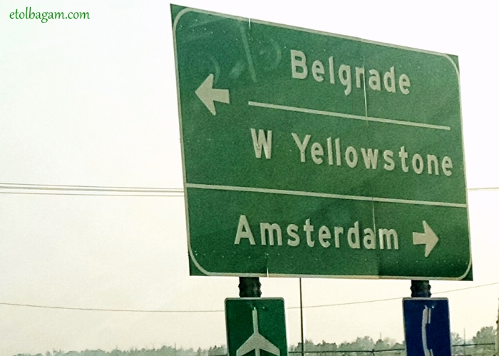 Somewhere between Serbia and the Netherlands, on the way to Yellowstone...